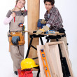Child carpenters — Stock Photo
