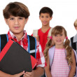 Children going to school — Stock Photo #14677233