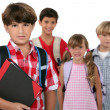 A group of schoolchildren — Foto Stock