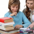 Prepubescent boy being tutored — Stockfoto