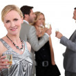 Friends drinking champagne — Stock Photo #14677707