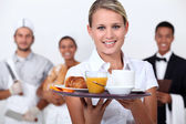 A restaurant staff. — Foto Stock