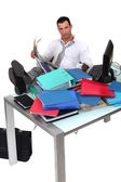 Overwhelmed executive — Stock Photo