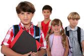 Children going to school — Stock Photo