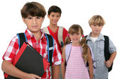 A group of schoolchildren — Stock Photo