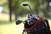 Close-up of golf clubs — Stock Photo