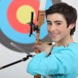 Professional archer - Stock Photo