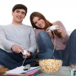 Couple playing video games — Foto de Stock