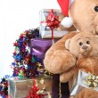 Close-up of Christmas presents — Stock Photo
