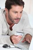 Man buying online — Stock Photo