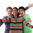 Ecstatic young men — Stock Photo