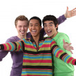 Ecstatic young men - Stock Photo