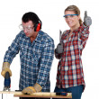 Health and Safety at work — Stock Photo