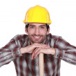 Stock Photo: A handsome construction worker.