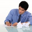 Man writing a letter — Stock Photo