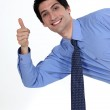 Thumbs up from a businessman — Stock Photo #14705331