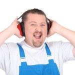Worker wearing earmuffs — Stock Photo #14706139