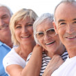 4 senior laughing - Stock Photo