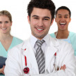 Doctor and nurses laughing — Stock Photo #14706823