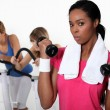 Women training in the gym — Stock Photo #14707029