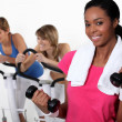Three women at the gym. — Stock Photo