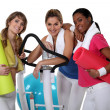 Friends at the gym — Stock Photo #14707045