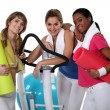 Stock Photo: Friends at the gym