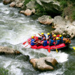 Stock Photo: Group rafting