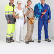 Stock Photo: Group of workers