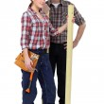 Couple of carpenters — Stock Photo