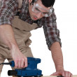 Joiner using sander — Stock Photo #14708171