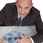 Man counting money — Stock Photo
