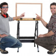 Duo of carpenters all smiles — Stock Photo #14708723