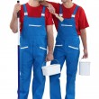 Two painter decorators — Stock Photo