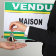 French house sale — Stock Photo