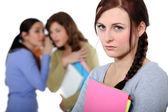 Female victim of bullying — Stock Photo