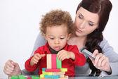 Uma ligação com o filho de mãe — Foto Stock