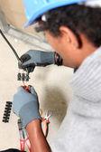 électricien câblage un — Photo
