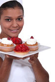 Strawberry tarts — Stock Photo