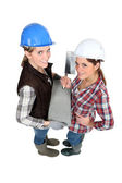Female bricklayers — Foto Stock