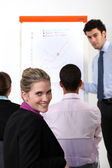 Businesswoman on a professional training — Foto Stock