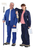 Couple of painters — Stock Photo