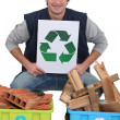 Tradesmpromoting recycling — Stock Photo #14710469