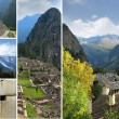 Mosaic of rural village and surrounding area — Stock Photo