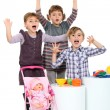 Children playing with toys — Stock Photo