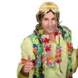 Man dressed as a hippy — Stock Photo