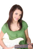 Woman with a guitar — Stockfoto