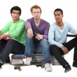 Trio of male students — Stock Photo #14727395