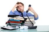 Exceso de trabajo funcionario — Foto de Stock