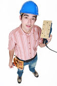 Man holding an electric tool — Stock Photo